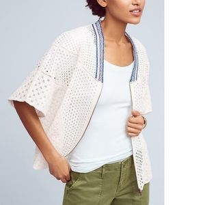 Anthropologie Conditions Apply Nora Eyelet Cape